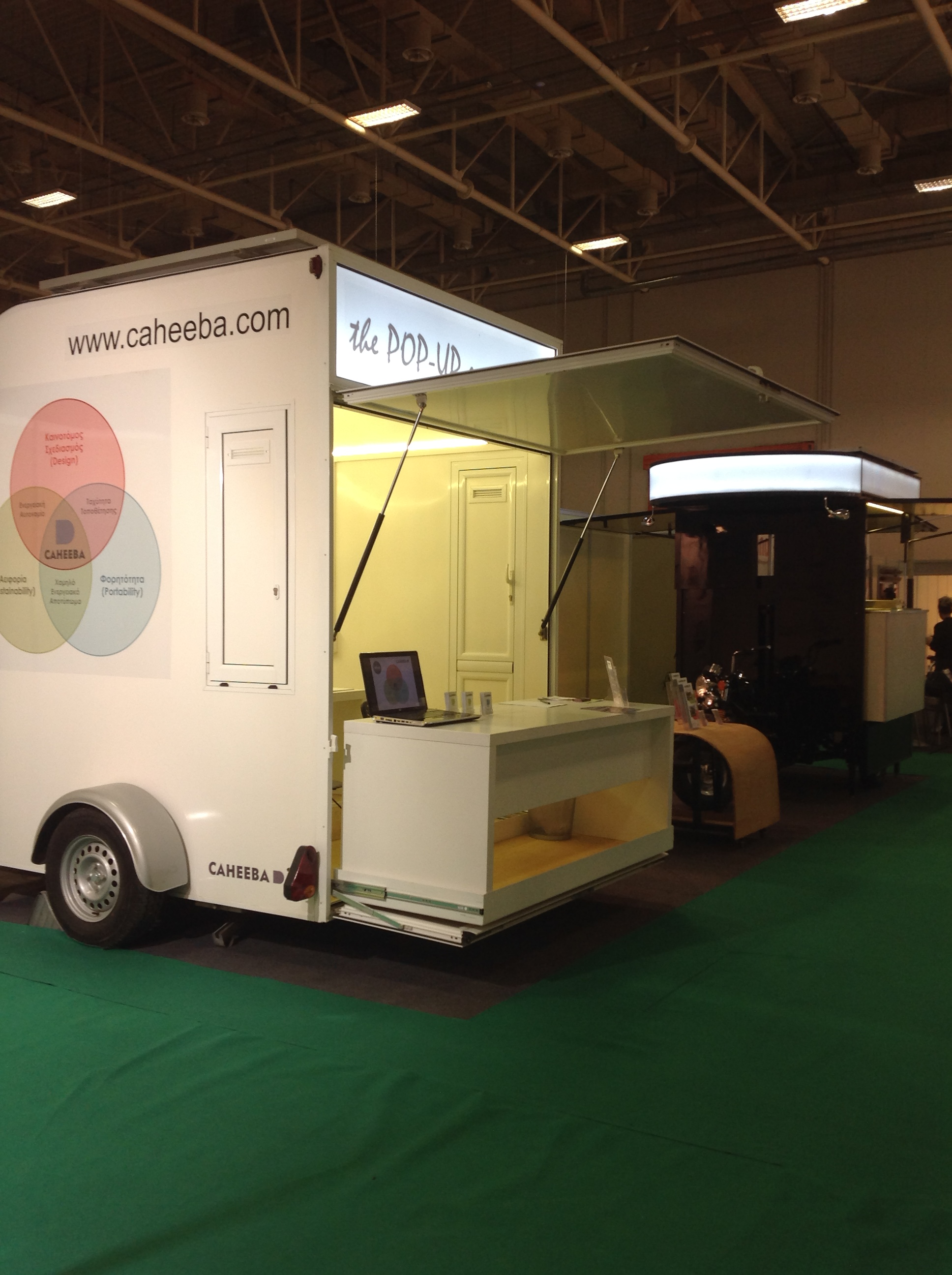 "The greek canteen by Caheeba at ""Building Green"" Exhibition"